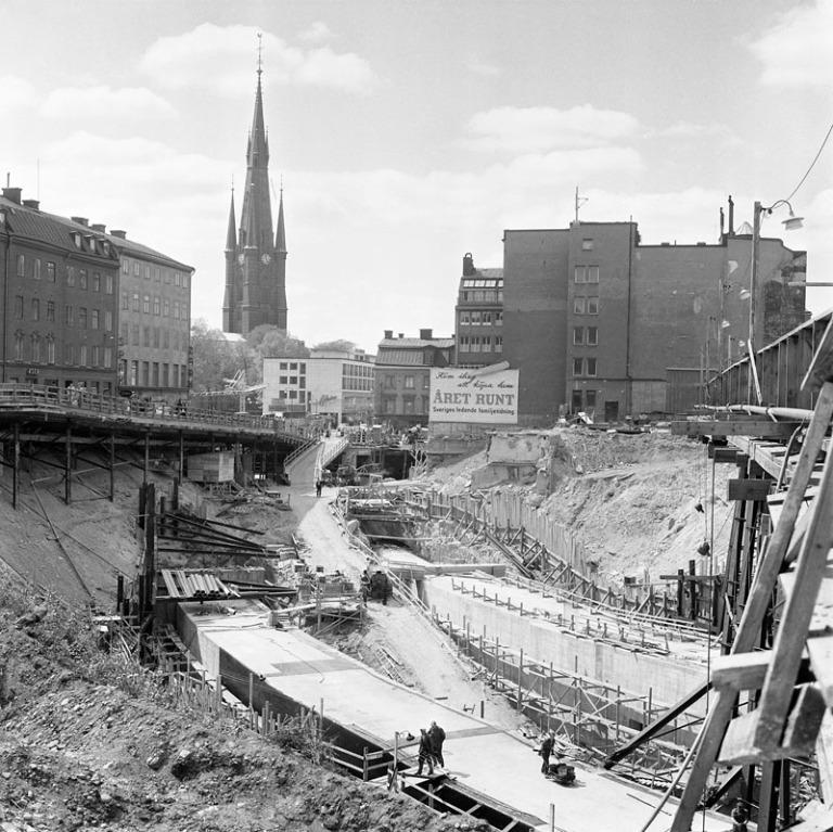 Stockholm T-Centralen 1957