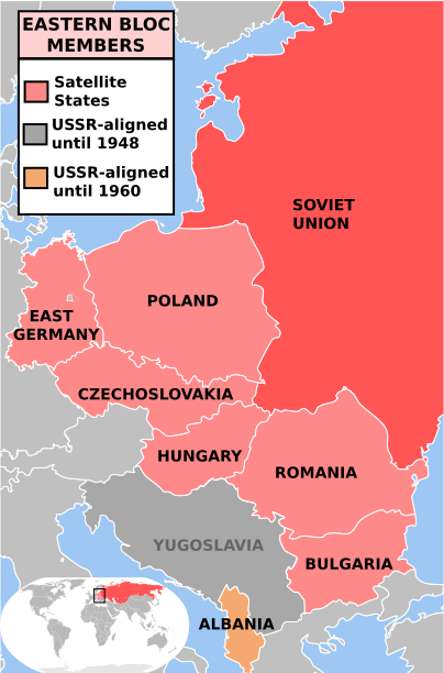 Soviet Sphere of Influence in Eastern Europe